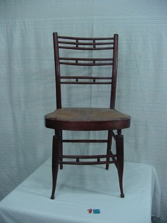 15: Single Bamboo Style Windsor  Chair 19th Cent.