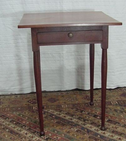 22: Cherry 1 Drawer Table 1840