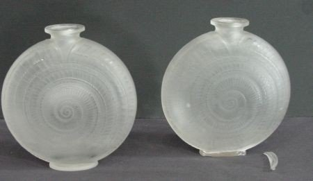26: Pair Of R. Lalique Snail Vases