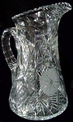 1: An American Brilliant Period Cut Glass Water Pitcher