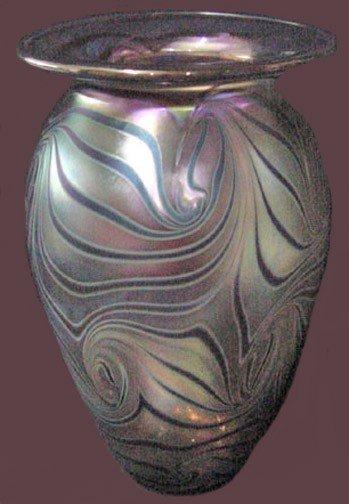 14: A Robert Eickholt Art Glass Vase