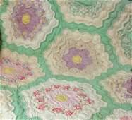 18: A Dresden Plate Flower Garden Quilt East Tenn.
