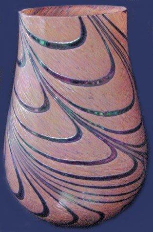 23: A Loetz Style Art Glass Vase