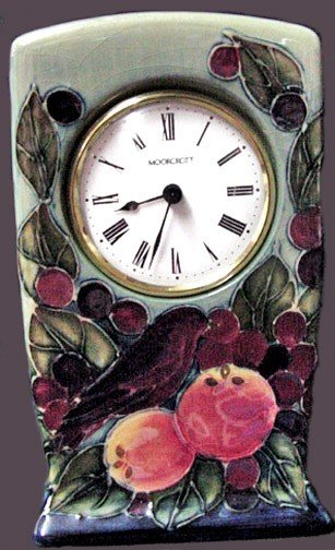 105: A Vintage Moorcroft Clock English Art Pottery