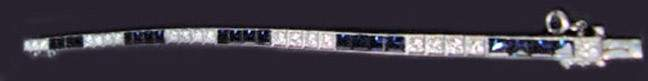 125 An Art Deco Platinum  Diamond Line Bracelet