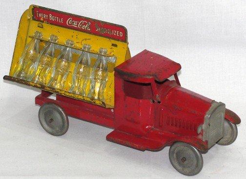 514: 1931 Coca Cola Metal Wheel Truck