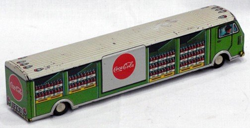 """518: 1950s 8 1/2"""" Long Coca Cola Tin Delivery"""