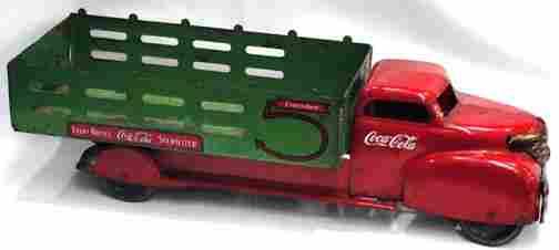 529: 1950s Steel Coca Cola Delivery Truck