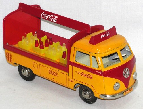 583: West German VW Friction Wheel Coca Cola Delivery T