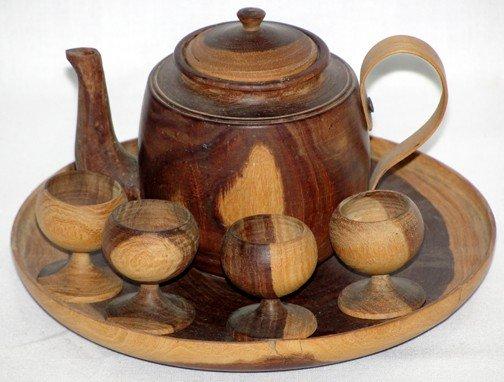 656: Folk Art Childs Tea Set Prison Made