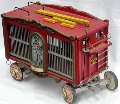 758: Toy Circus Animal Wagon Handmade