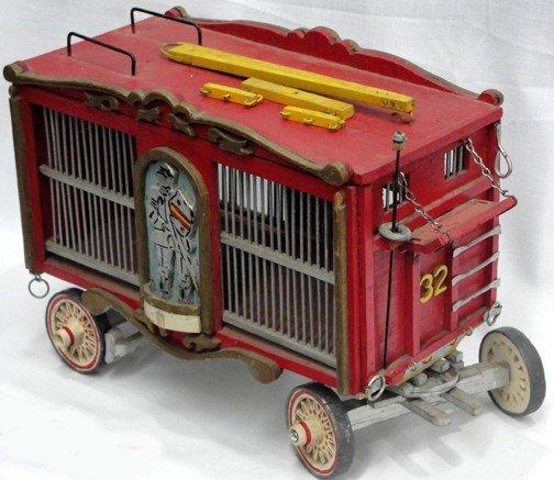 758: Toy Circus Animal Wagon Handmade