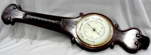 1: A British Rosewood Wall Barometer