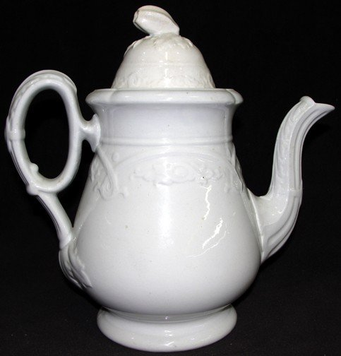 3: A Wedgwood Ironstone Coffee Pot