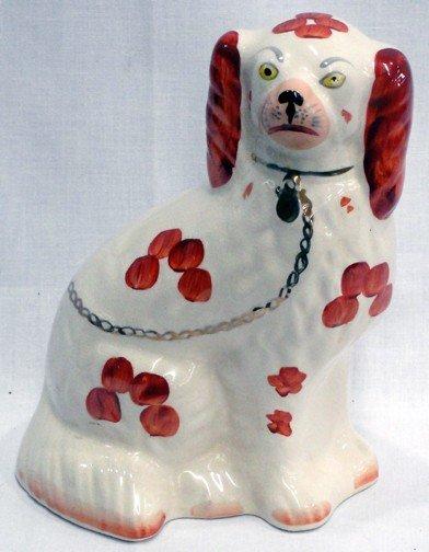 9: An English Staffordshire Spaniel Figure
