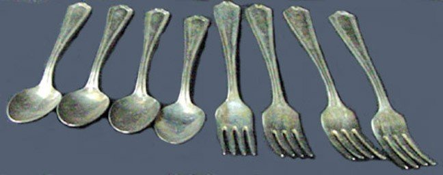 17: A Group of Albert Pick Hotel Silver Flatware