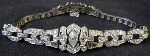 300: A 5.66 Carat Art Deco Platinum & Diamond Bracelet