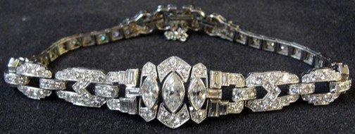 300: A 5.66 Carat Art Deco Platinum & Diamond Bracelet