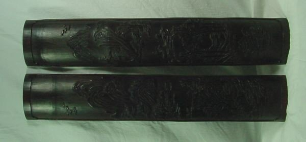 1: A Pr. Chinese Bamboo Wrist Rests