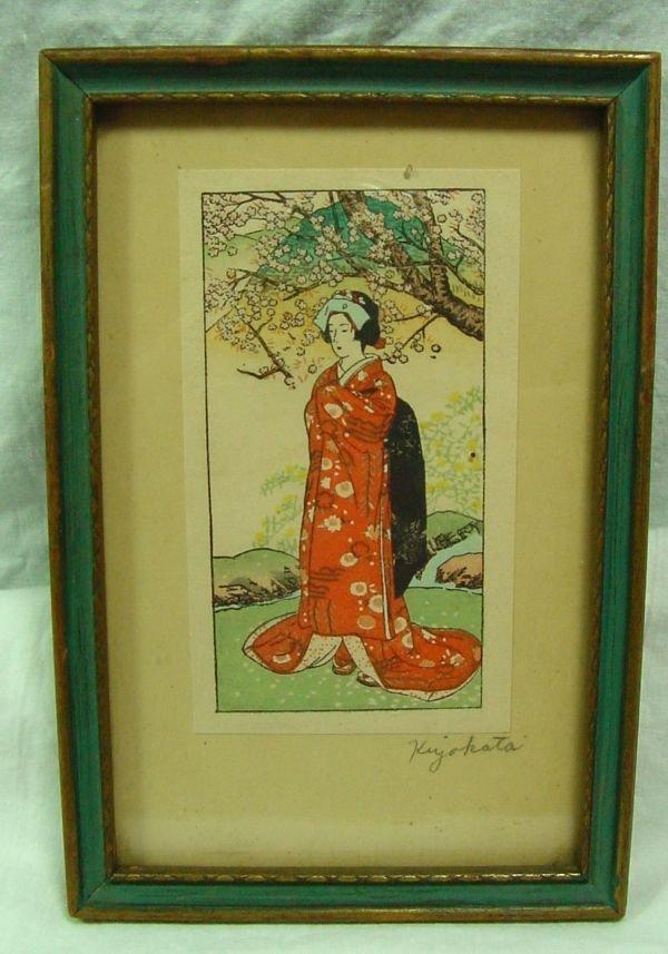 4: A Kiyokata Kaburagi Woodblock Print