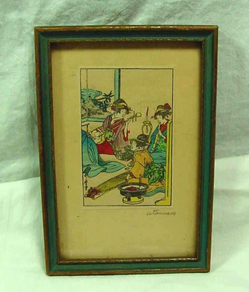 5: A Kitaguwa Utamaro Woodblock Print