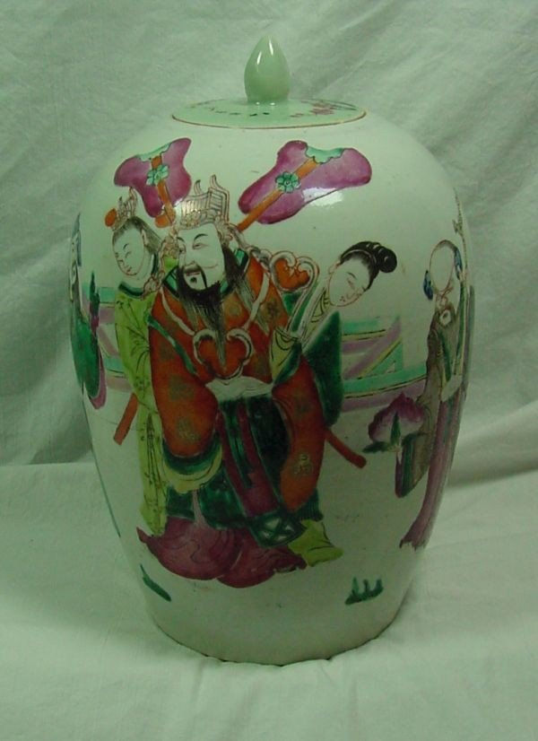 12: A 19th Cent. Chinese Famille Rose Jar