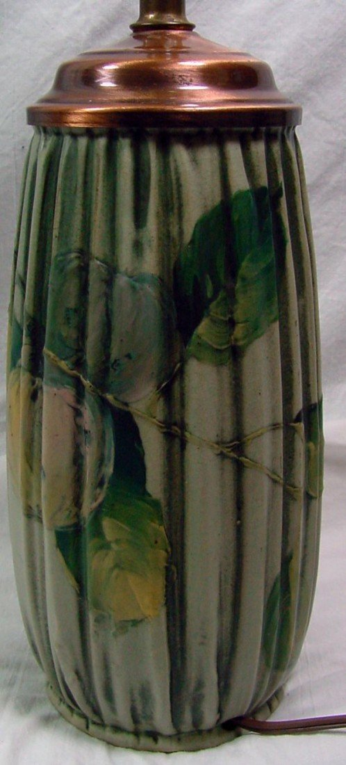 15: A Weller Art Pottery Vase/Lamp