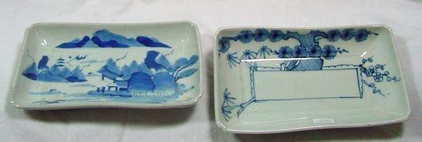 17: A Pr. Blue & White Oriental Porcelain Bowls