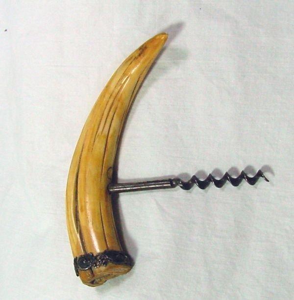 23: A Bone Handled Cork Screw 1920s