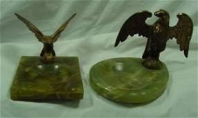 52: A Group of Eagle & Onyx Ashtrays Art Deco