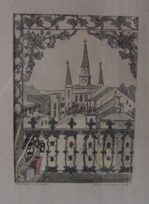 284: A Gypsy Lou Webb New Orleans Watercolor