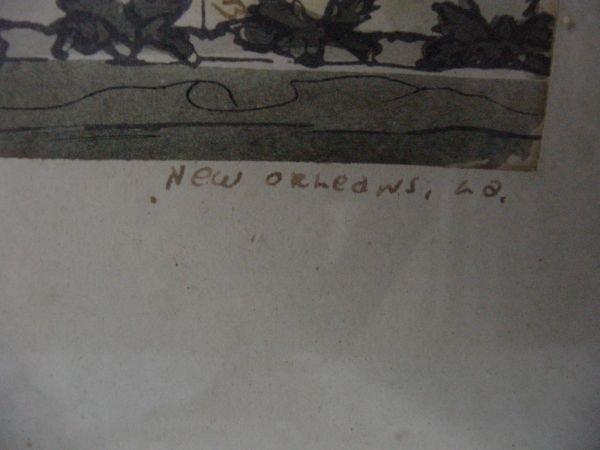 284: A Gypsy Lou Webb New Orleans Watercolor - 3