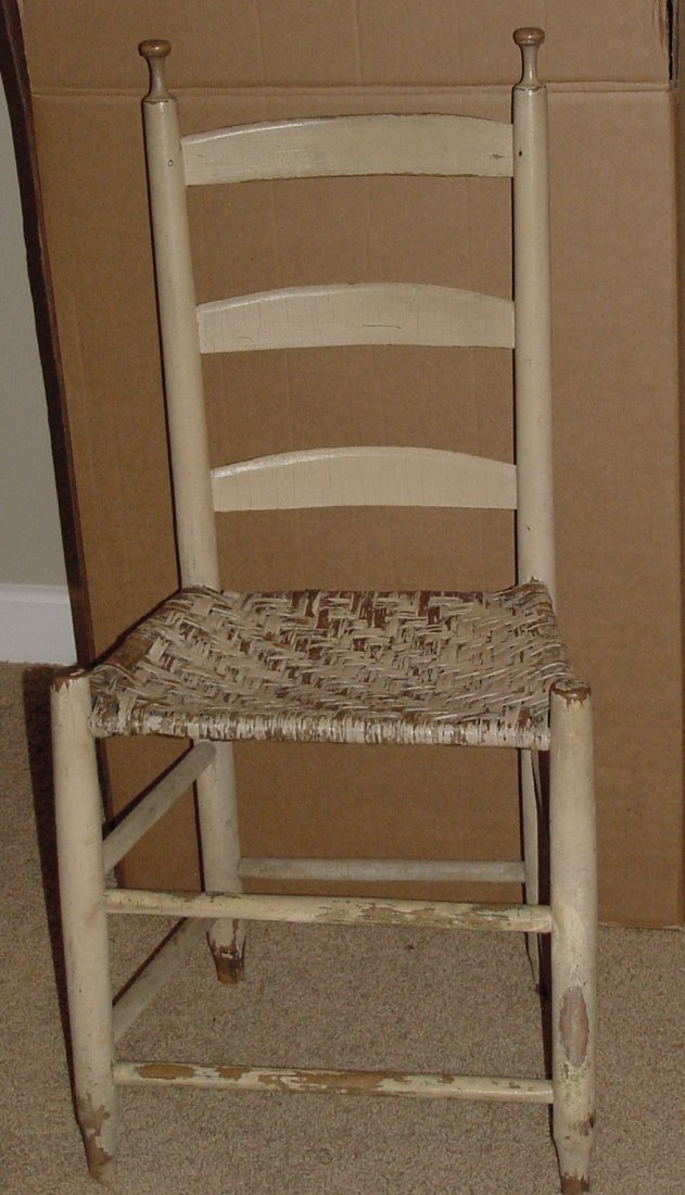 A Country Painted Ladder-back Chair