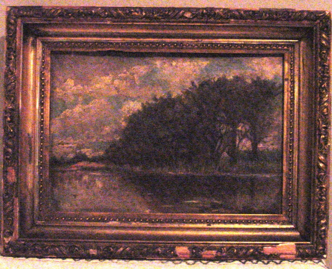 A Barbizon Landscape Oil on Board