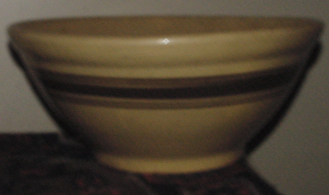 A Yellow Ware Mixing Bowl
