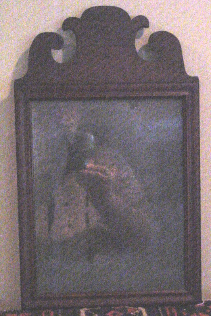 A Mahogany Queen Anne Mirror 18th Cent.