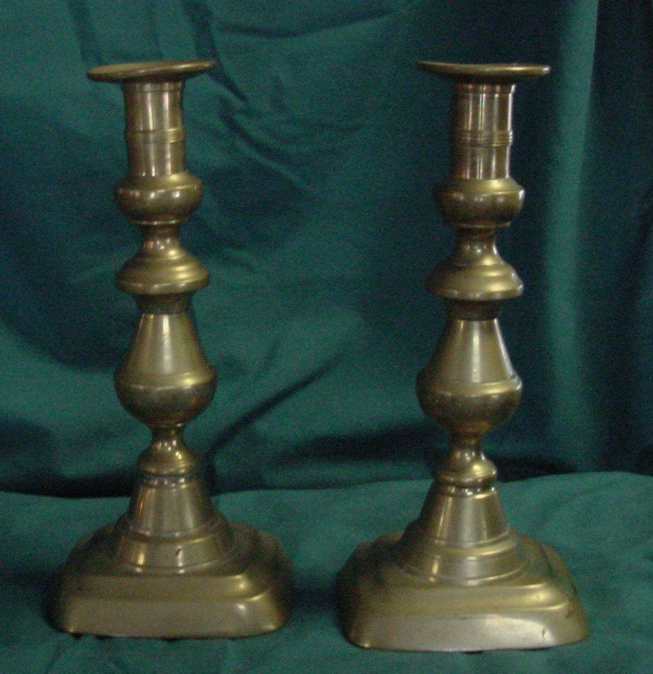 5: A Pr. Brass Candlesticks w/Pushups