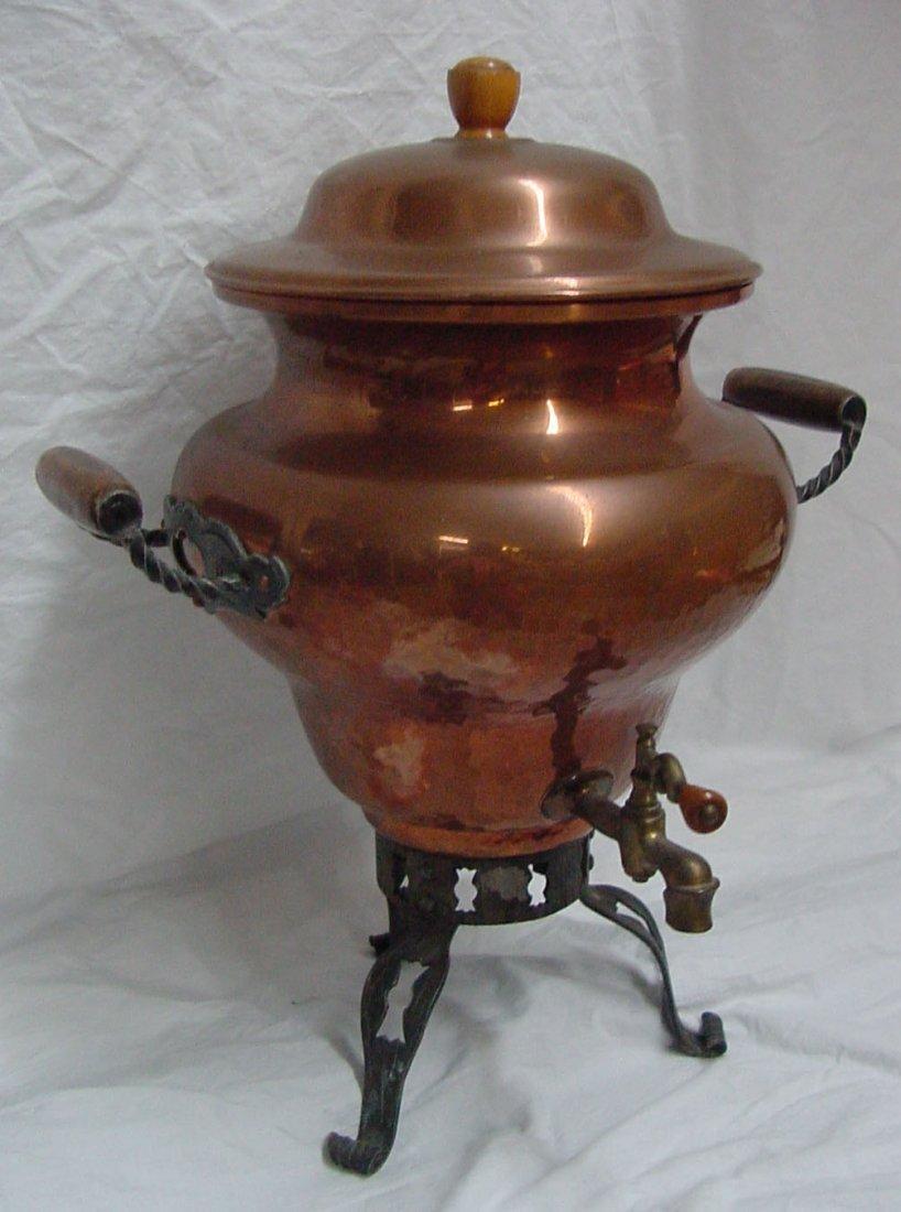 9: A 1950s Stockli Neisial Copper Hot Water Pot