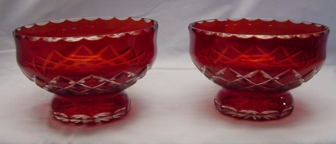 17: A Pr. Ruby Cut To Clear Bowls