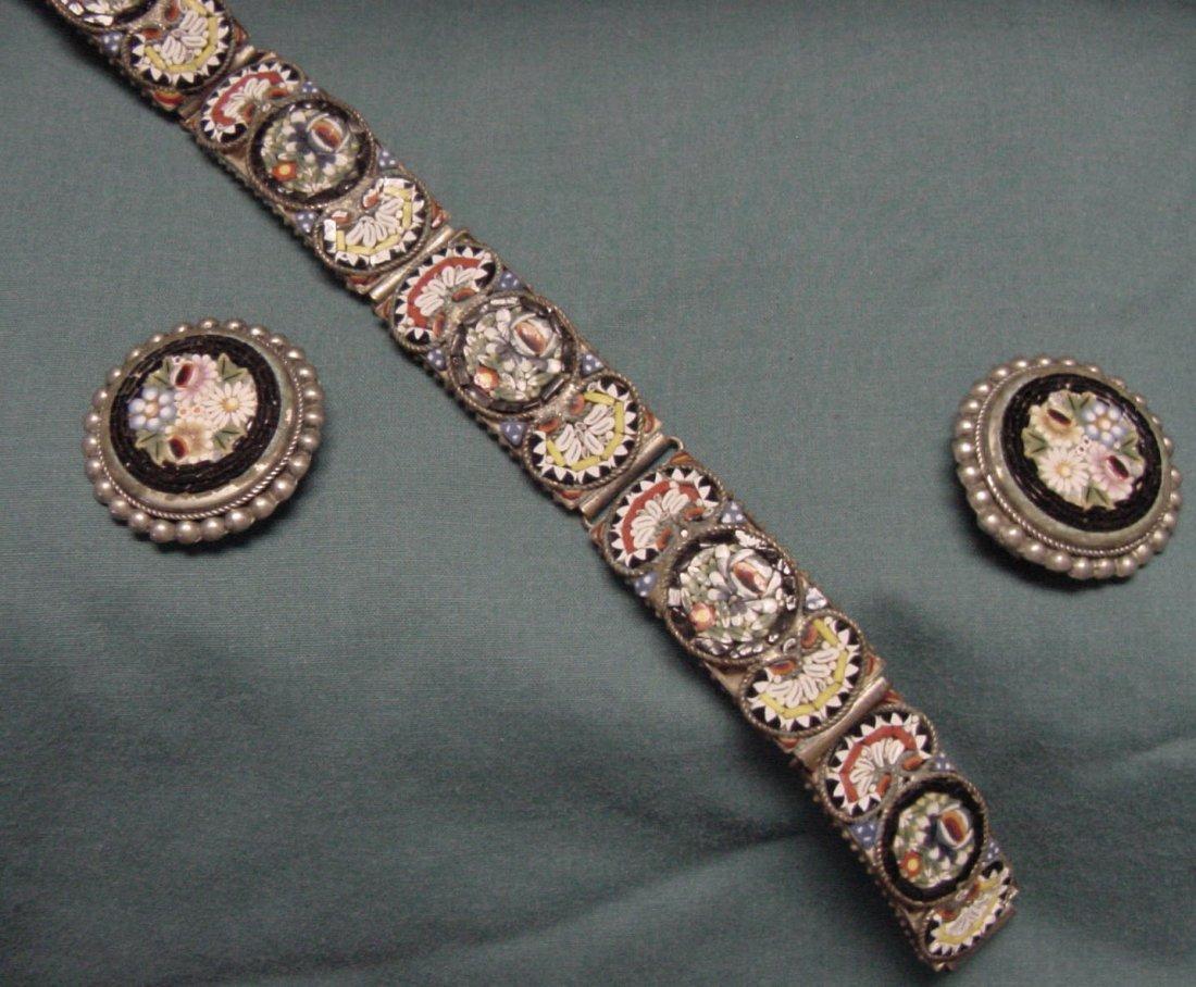 24: A Micro Mosaic Bracelet & Earrings
