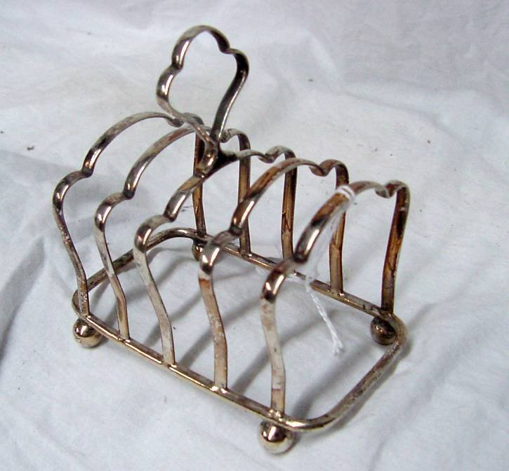 Silver Plated Toast Rack Art Deco