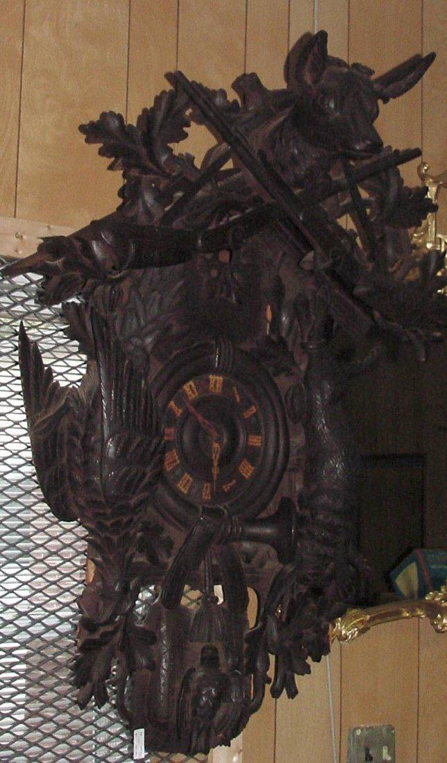 Ornate Large Black Forest Cuckoo Clock