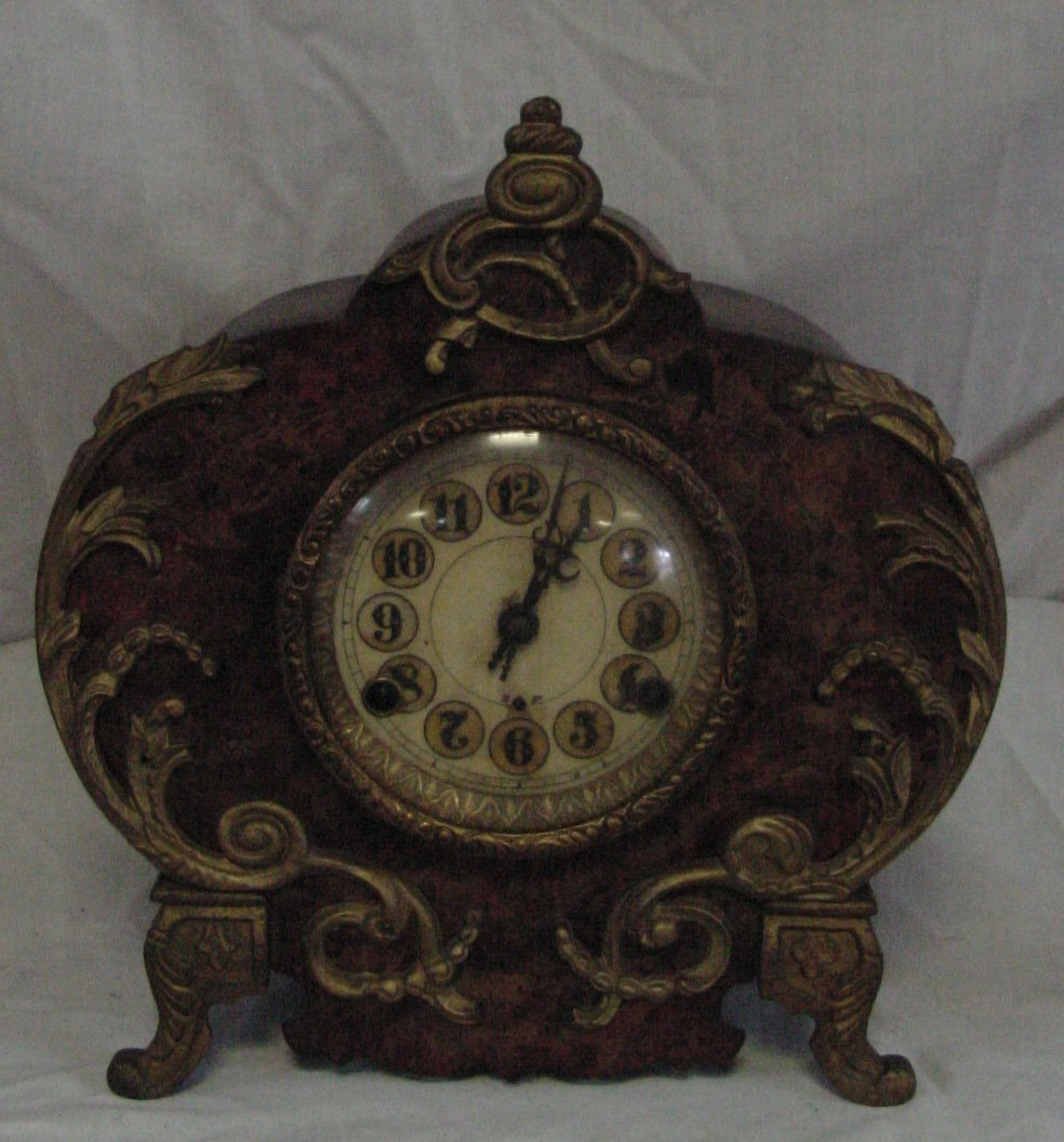 New Haven Iron Mantle Clock