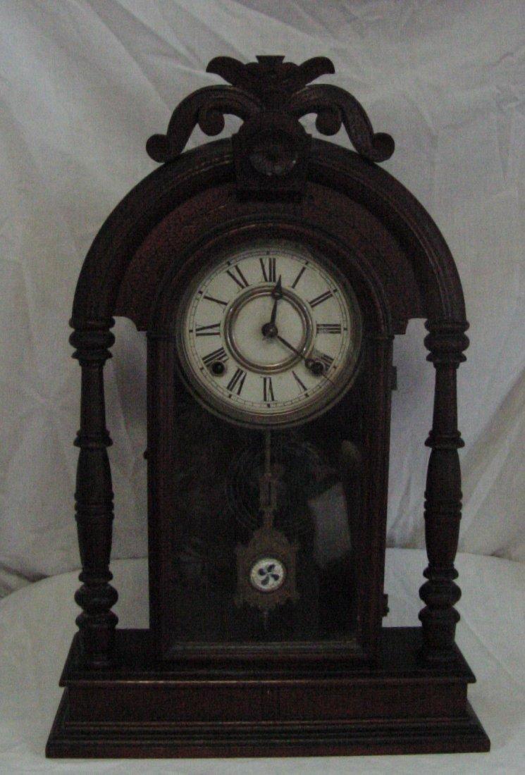 Fancy Walnut Kitchen Clock