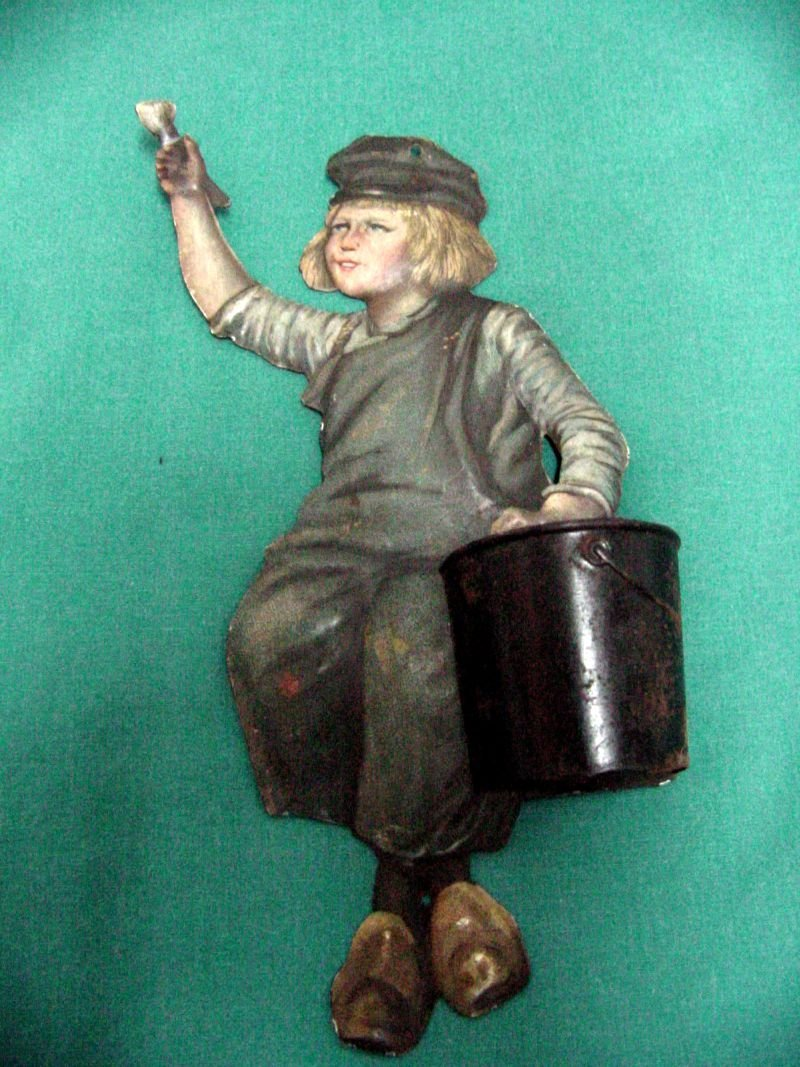 Dutch Toy Tin Match Holder