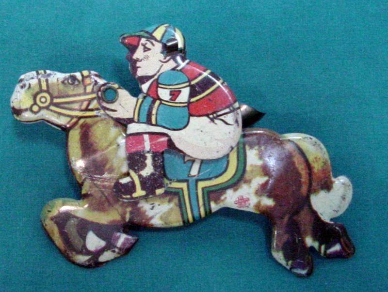 Jockey Riding Horse Clicker Toy