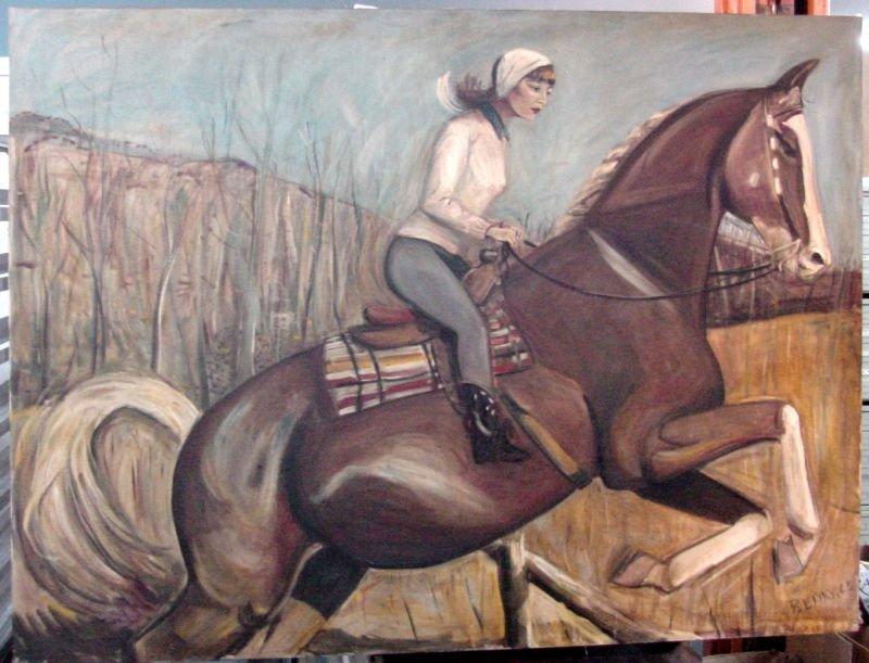 1960s Lady On Horseback Connecticut