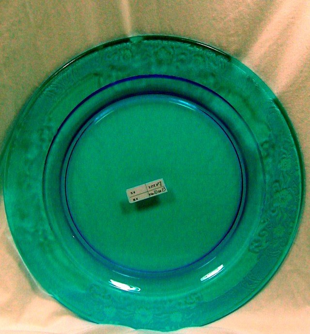 "Cambridge Style Blue 13"" Cake Plate"