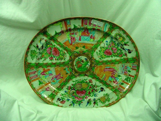 19th Cent. Large Rose Medallion Platter