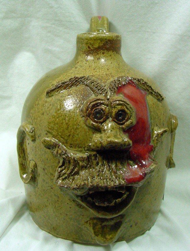 East TN Joppa Mountain Pottery Face Jug